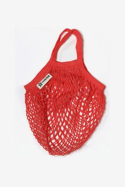 Turtle Bags String Bag for Shopping, Short Handles, Red