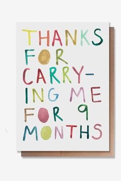 Wunderkid 9 Months Mother's Day Card