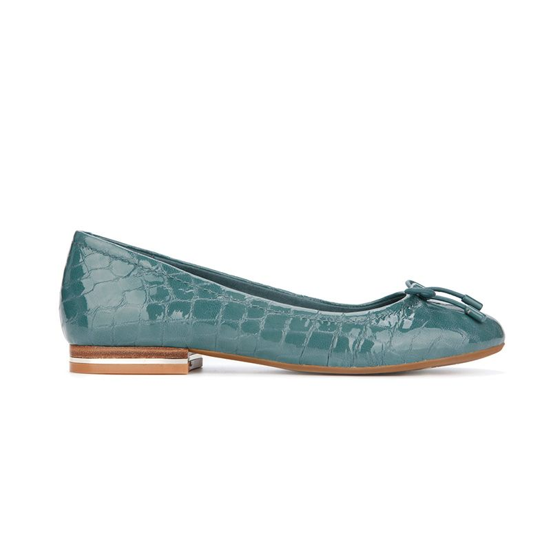 Balance Croc Embossed Leather Ballet Flat