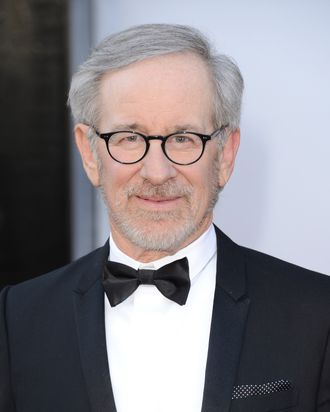 HOLLYWOOD, CA - FEBRUARY 24: Director Steven Spielberg arrives at the Oscars at Hollywood & Highland Center on February 24, 2013 in Hollywood, California. (Photo by Jason Merritt/Getty Images)