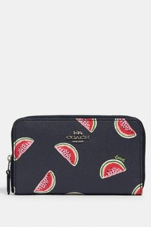 Coach Medium Zip Around Wallet (Watermelon Print)
