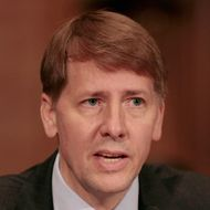 Richard Cordray testifies during his confirmation hearing before the Senate Banking, Housing and Urban Affairs Committee on Captiol Hill September 6, 2011 in Washington, DC. Former Ohio Attorney General Cordray has been nominated by President Barack Obama to be the first director of the United States Consumer Financial Protection Bureau.