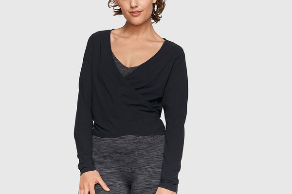 Outdoor Voices TissueWeave Wrap Top