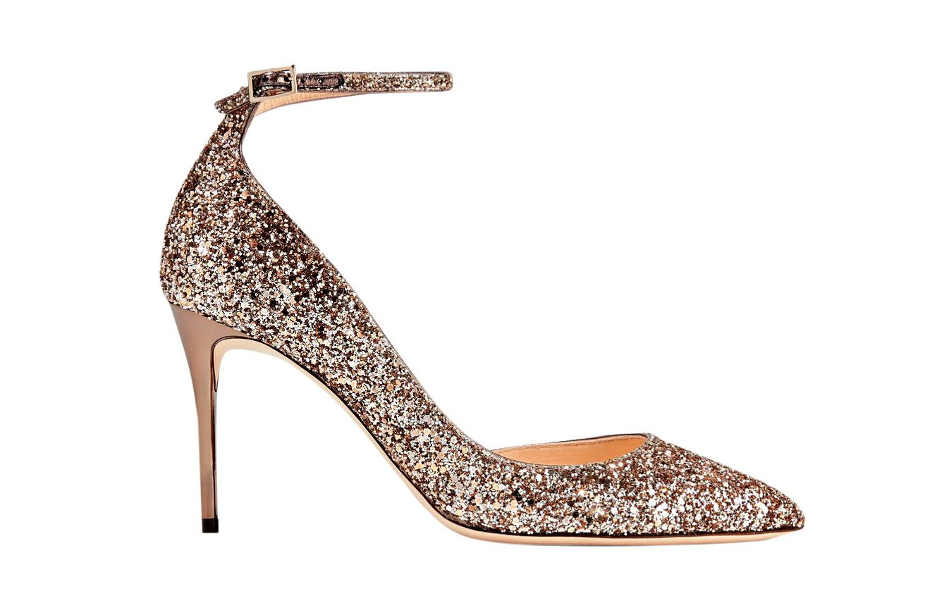 Jimmy Choo Lucy Glittered Pumps
