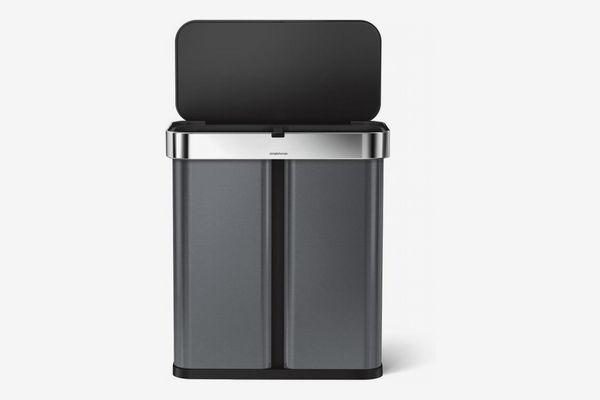 Simplehuman 58-Liter Dual Compartment Voice & Motion Sensor Trash Can