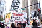 Anti-Trump Protestors Rally In Chicago