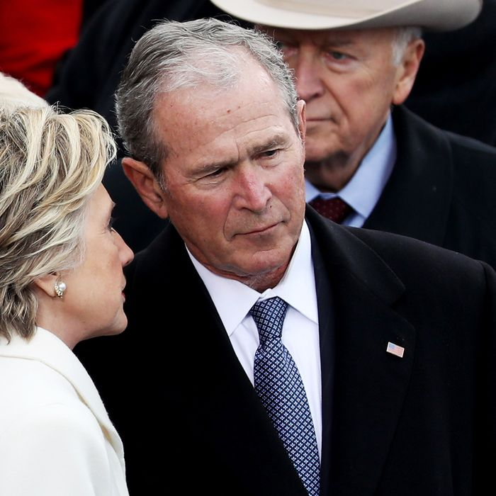Bush Not Thrilled by Behavior of Monster He Helped Create