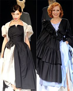 Imagine if Rooney Mara or Jessica Chastain showed up like this.
