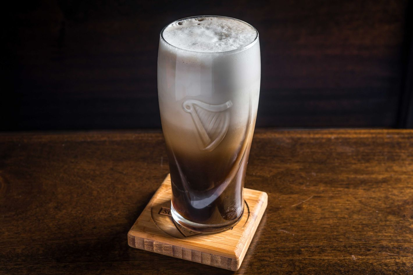 The Tough Room is a Guinness-and-whiskey sour.