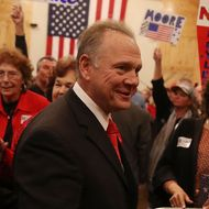 GOP Senate Candidate Judge Roy Moore Holds Rally On Eve Of Election
