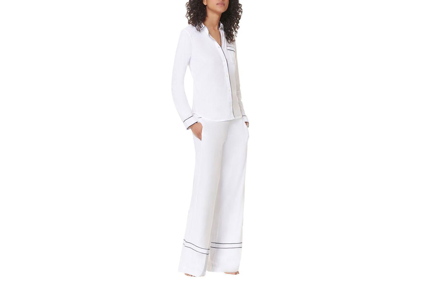 La Ligne Bonne Nuit Midnight Navy Pajama Shirt