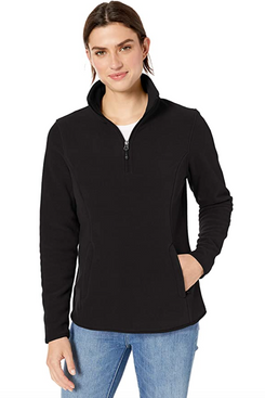 Amazon Essentials Women's Classic Fit Long-Sleeve Quarter-Zip Polar Fleece Pullover Jacket