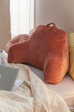 Urban Outfitters Ribbed Velour Boo Pillow