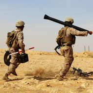 US Marines get hands on with new mortar system