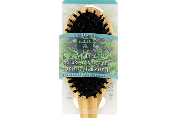 Earth Therapeutics Regular Bamboo Natural-Bristle Cushion Brush