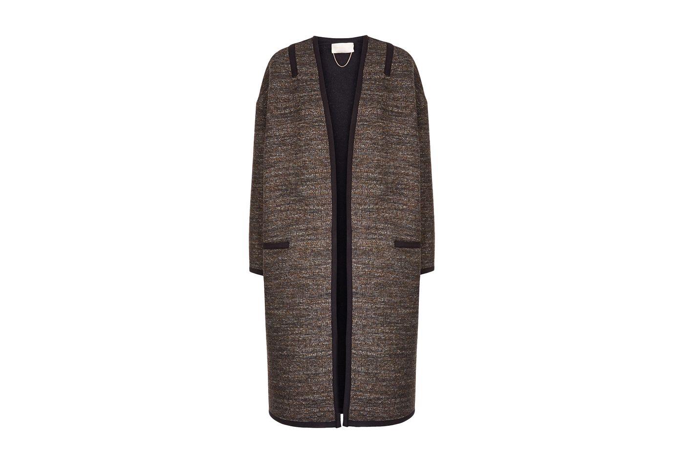 Vanessa Bruno Brown Tweed Felicien Coat