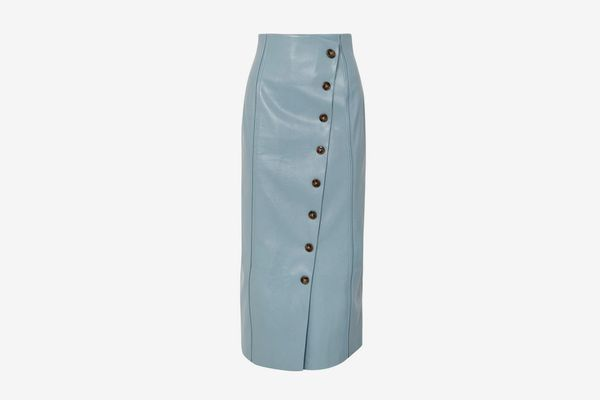 Rejina Pyo Faux Leather Midi Skirt
