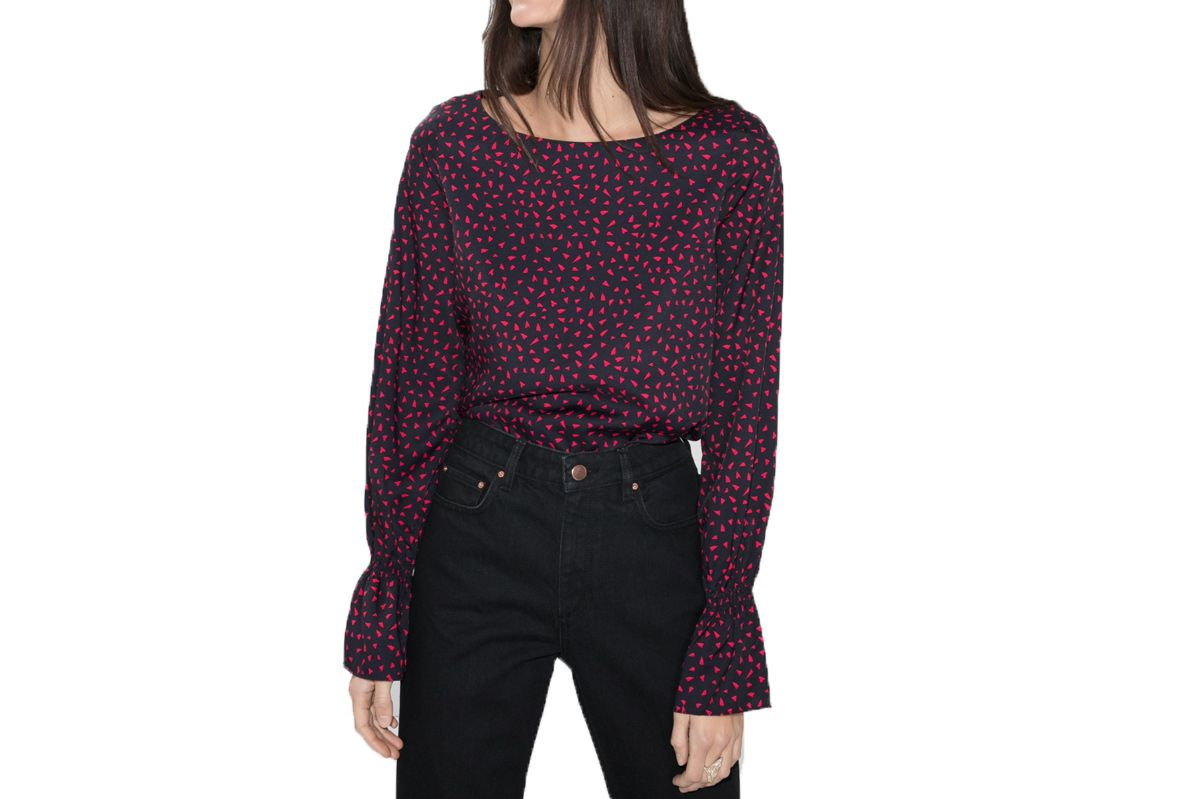 & Other Stories Petite Hearts Top