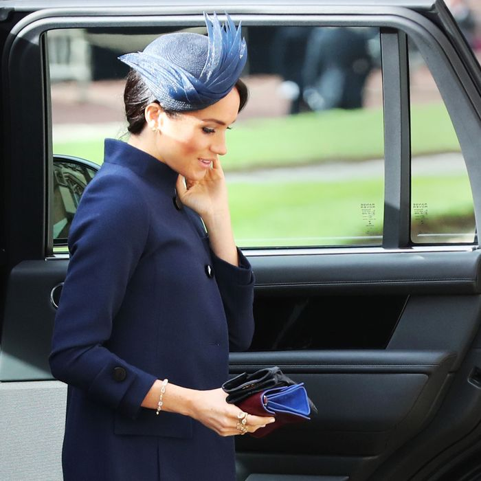 Meghan Markle at Princess Eugenie's wedding.