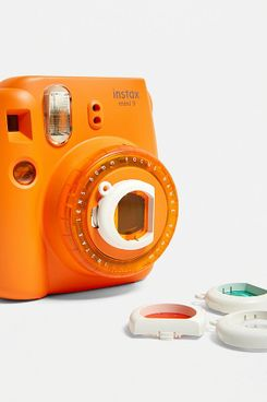 Fujifilm UO Exclusive Instax™ Mini 9 Orange Clear Lens Instant Camera (With Colour Filters))