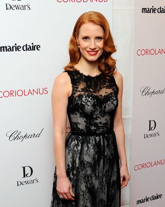 NEW YORK, NY - JANUARY 17: Actress Jessica Chastain attends the premiere of