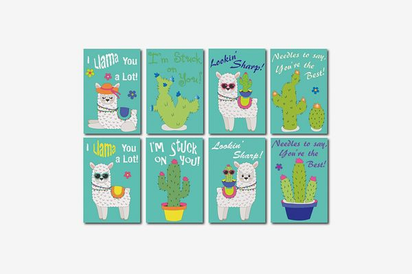Llama and Cactus Boho Buddies Valentine Variety Pack
