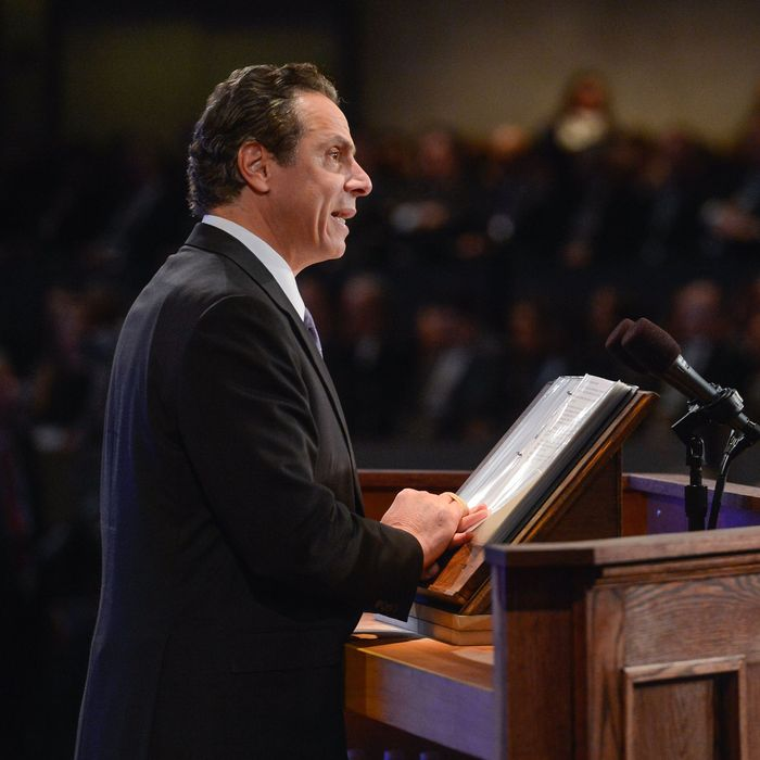 January 13, 2016- Albany, NY- Governor Andrew Cuomo delivers 2016 State of the State Address and 2016-17 Executive Budget Address to the people of New York State.