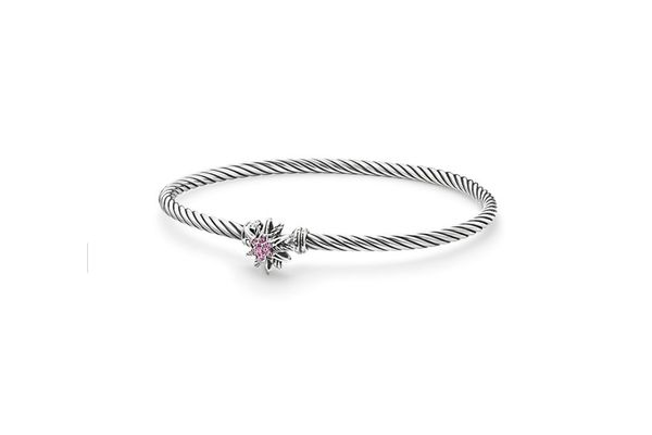 Starburst Cable Bracelet with Pink Sapphires