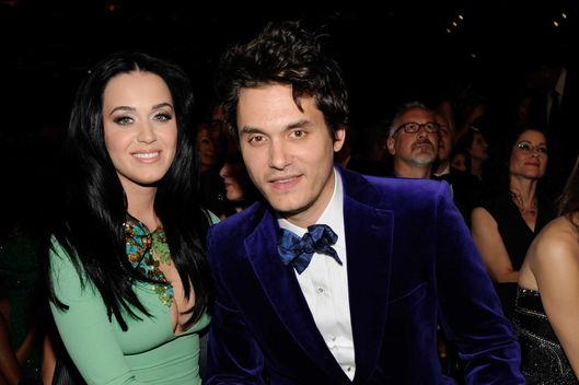 LOS ANGELES, CA - FEBRUARY 10:  Katy Perry and John Mayer attends the 55th Annual GRAMMY Awards at STAPLES Center on February 10, 2013 in Los Angeles, California.  (Photo by Kevin Mazur/WireImage)