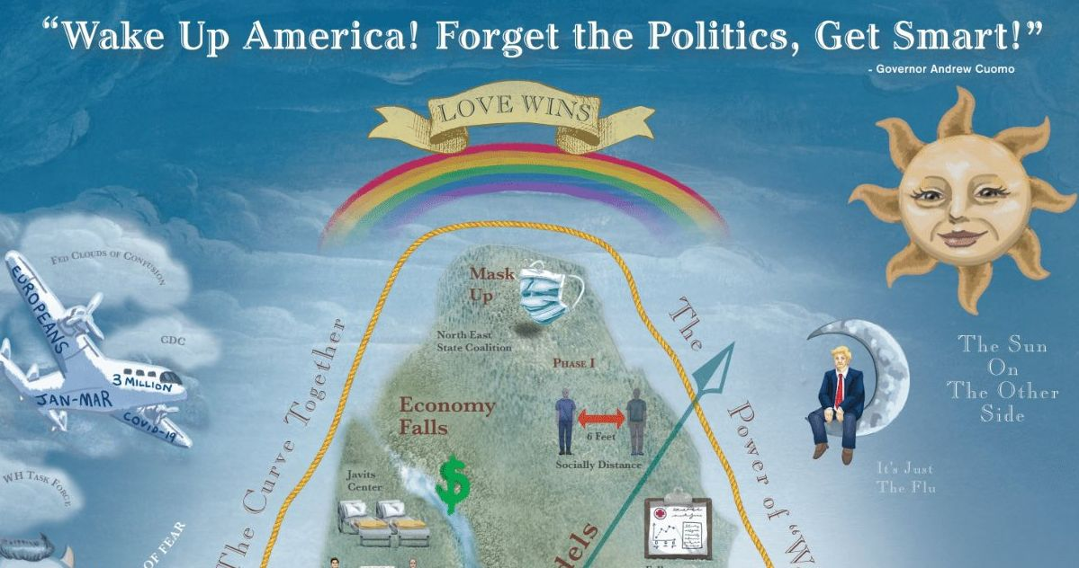 Behold Governor Cuomo's Pandemic Mountain Poster, for Some Reason