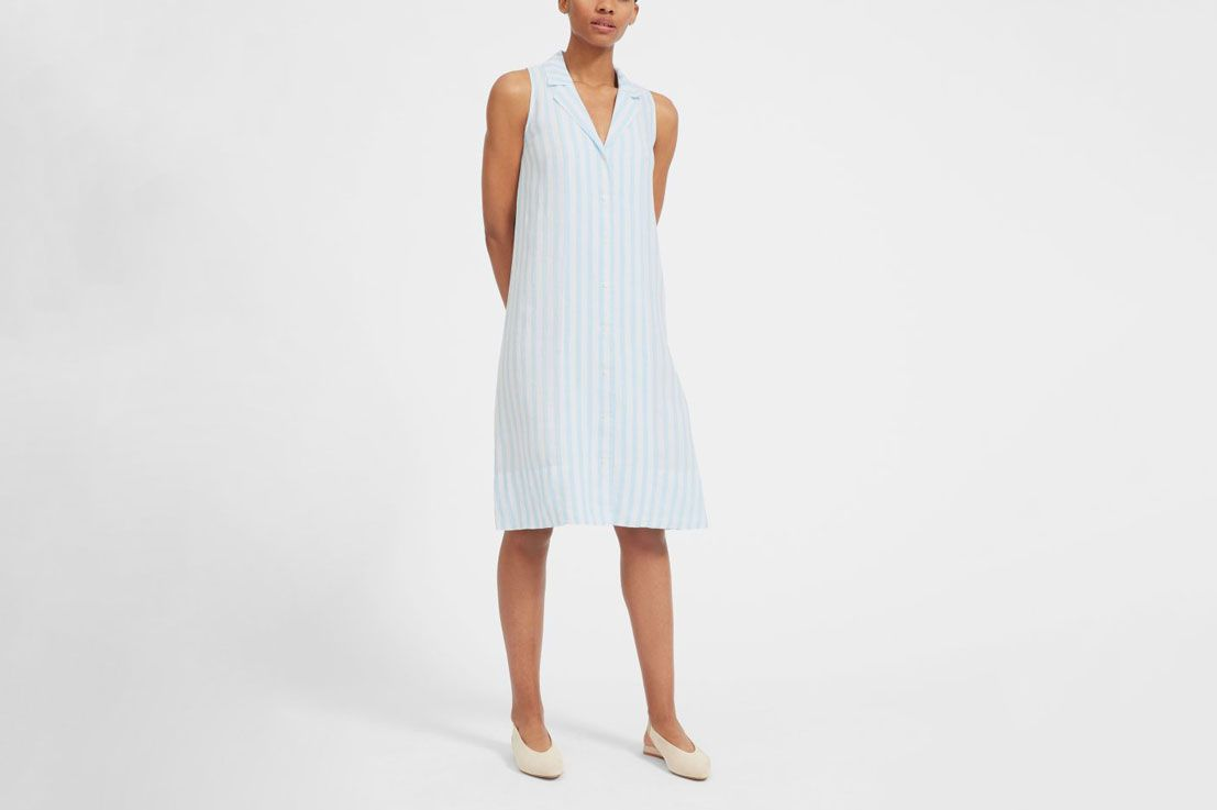 Everlane The Linen Sleeveless Shirtdress: Linen Summer Dresses For Weddings At Websimilar.org