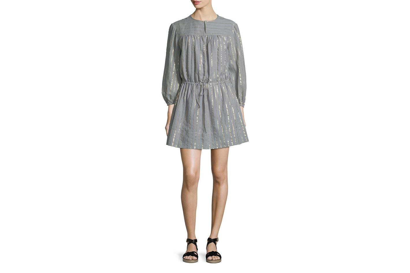 Étoile Isabel Marant Metallic Peasant Dress