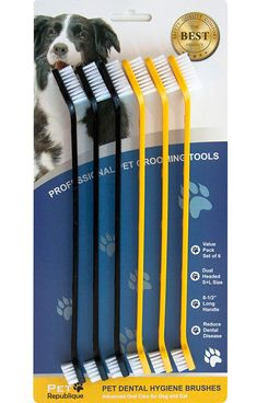 Pet Republique Dog Toothbrush Pack of 6