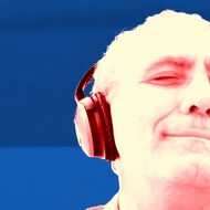 Senior Man Listening to Music