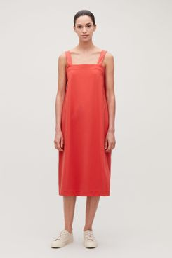 COS Apron Dress With Woven Straps