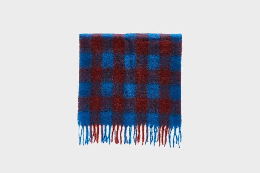 Rodebjer Lajor Scarf in Imperial Blue Check
