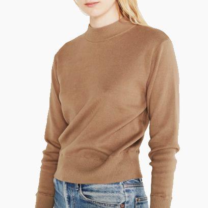 Entireworld Cotton Mock Neck Sweater