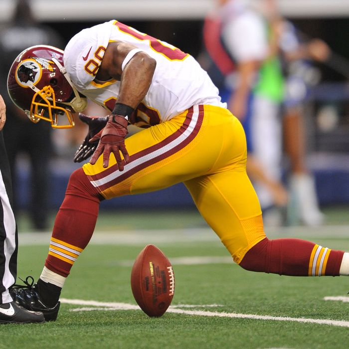 Nov 22nd, 2012:.Washington Redskins wide receiver Pierre Garcon (88) catches a pass inside the 3-yard line as he spins the ball in a game between the Washington Redskins and the Dallas Cowboys at the Cowboy Stadium in Arlington, Texas.