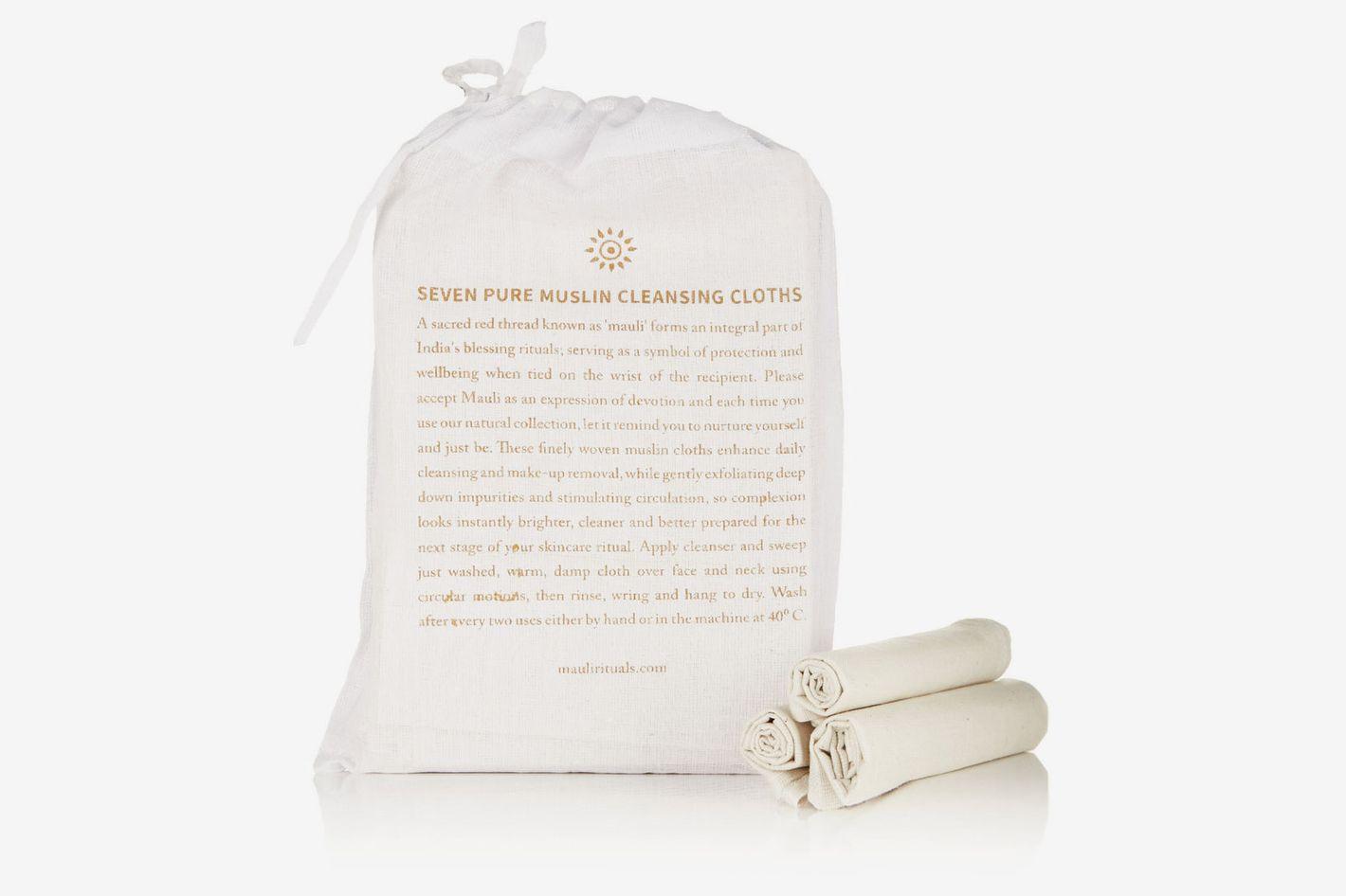 Mauli Rituals Pure Muslin Cleansing Cloths (Set of 7)