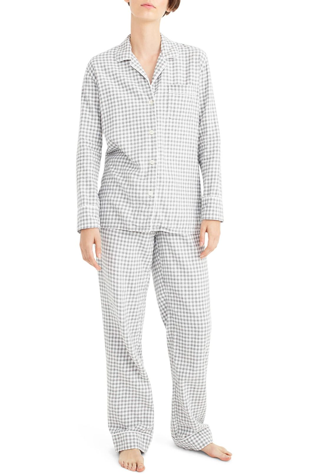 J.Crew Gingham Flannel Pajamas