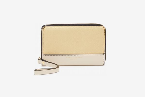 Marc Jacobs Metallic Colorblock Zip Phone Wristlet