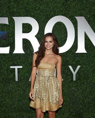 Xenia Deli at the launch of Margherita Missoni's Peroni collaboration.
