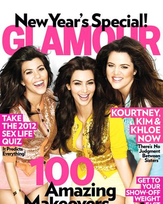 Glamour, turning over a new leaf in 2012.