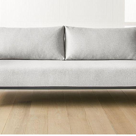 CB2 Una Grey Sleeper Sofa