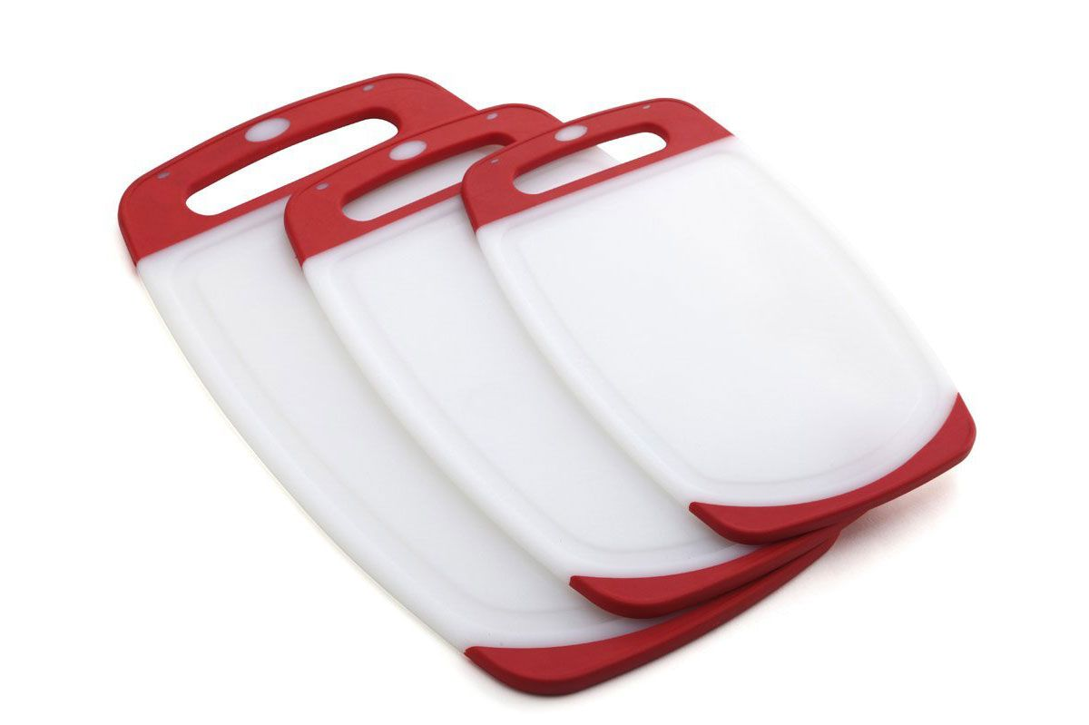 3 Piece Plastic Cutting Board Set