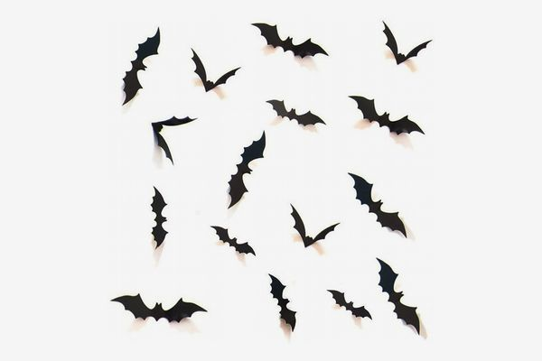 Set of 28 Sticky Bats to Stick on Walls and Windows, Assorted Sizes