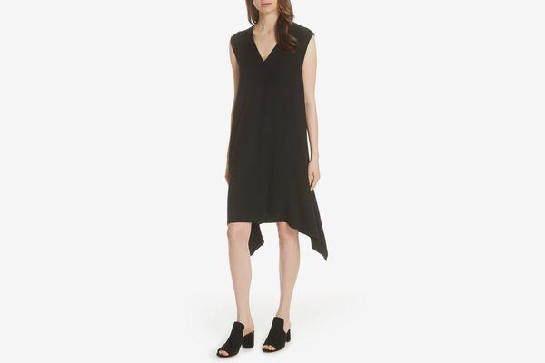 Eileen Fisher Cutout Jersey Shift Dress
