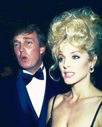 Donald Trump and Marla Maples.