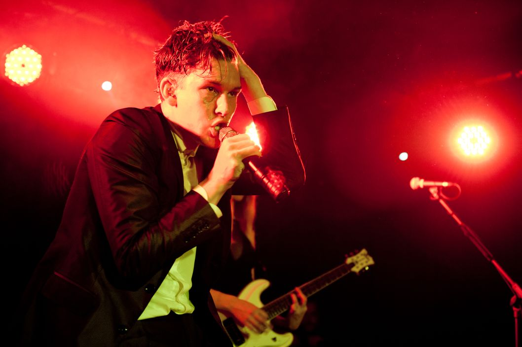 BERLIN, GERMANY - APRIL 16: William George Sinclair of Willy Moon performs at the Privat Club on April 16, 2013 in Berlin, Germany. (Photo by Gaelle Beri/Redferns via Getty Images)