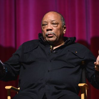 Composer Quincy Jones attends a special screening of A&E Entertainment's